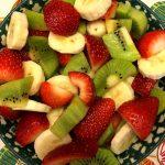 Christmas Fruit Salad With Strawberry Kiwi Banana