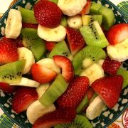 Christmas Fruit Salad With Strawberry Kiwi Banana