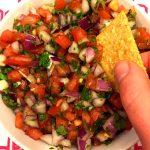 Pico De Gallo Mexican Fresh Salsa Recipe