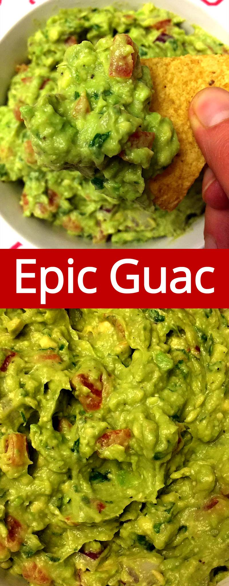 This is the best guacamole recipe ever! This easy homemade guacamole rivals the one they serve at a Mexican restaurant! I'll never make guacamole any other way!