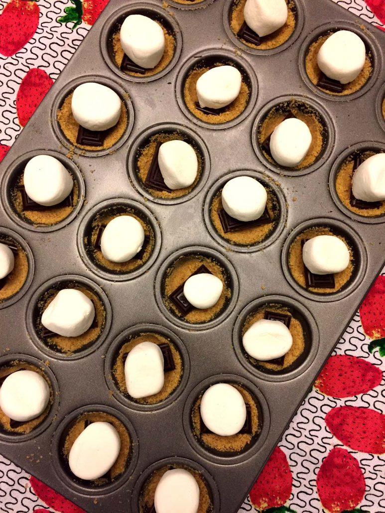 Marshmallow Chocolate Cups In Mini Muffin Tin