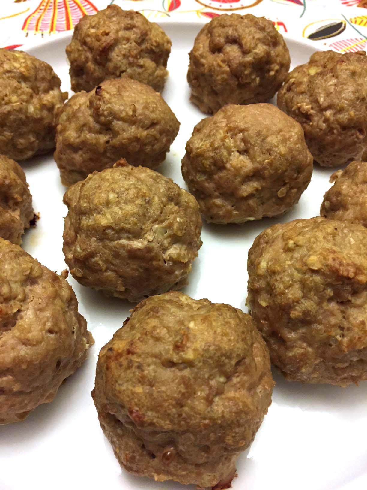 Baked Gluten Free Meatballs Recipe With Oatmeal Melanie