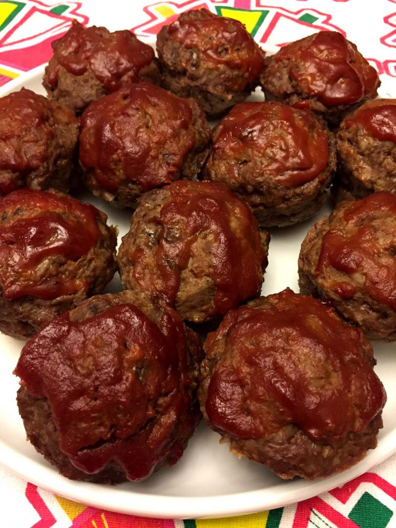 Meatloaf Baked In A Muffin Pan