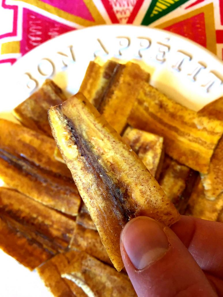 Crispy Baked Plantain Chips Recipe