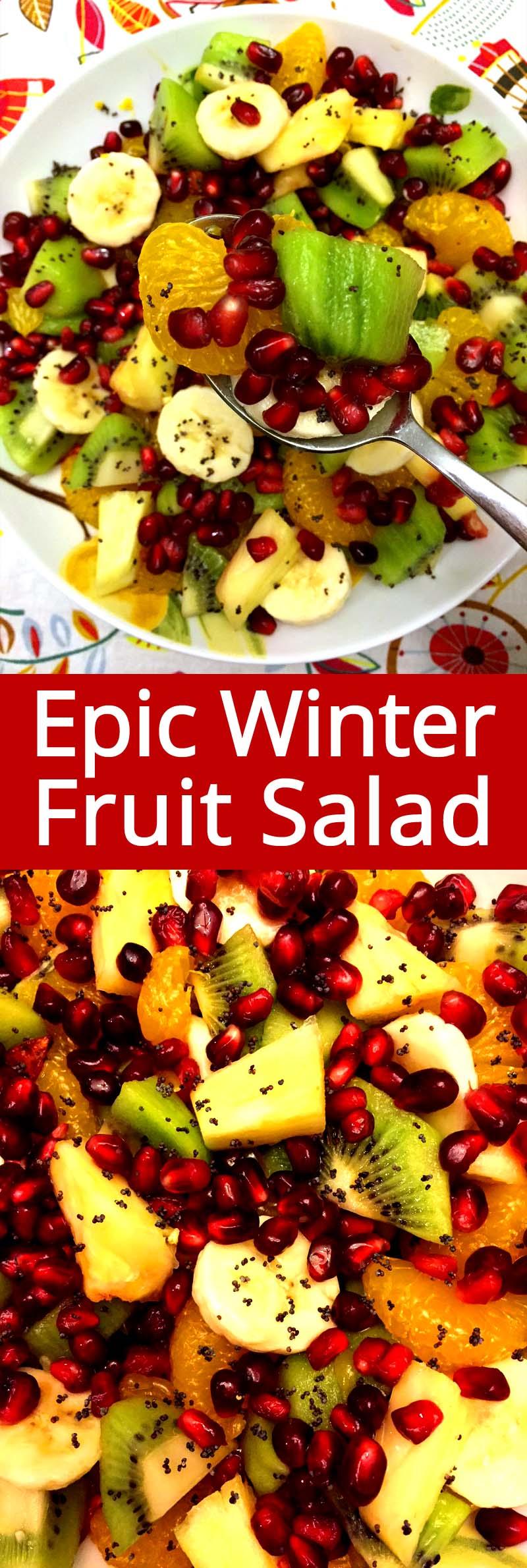 Pomegranate Winter Fruit Salad Recipe Easy And Festive