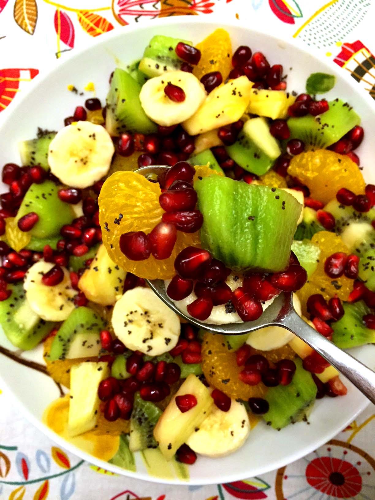 Pomegranate Winter Fruit Salad Recipe Easy And Festive Melanie Cooks