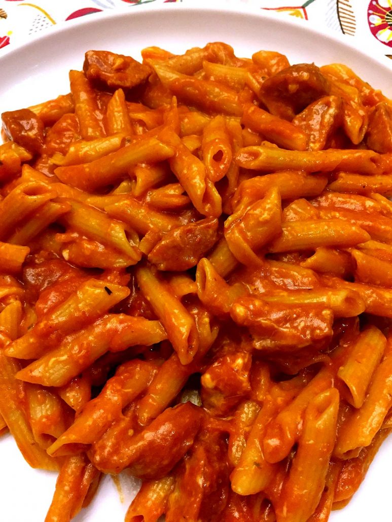 cheesy sausage one pot penne pasta recipe melanie cooks. Black Bedroom Furniture Sets. Home Design Ideas