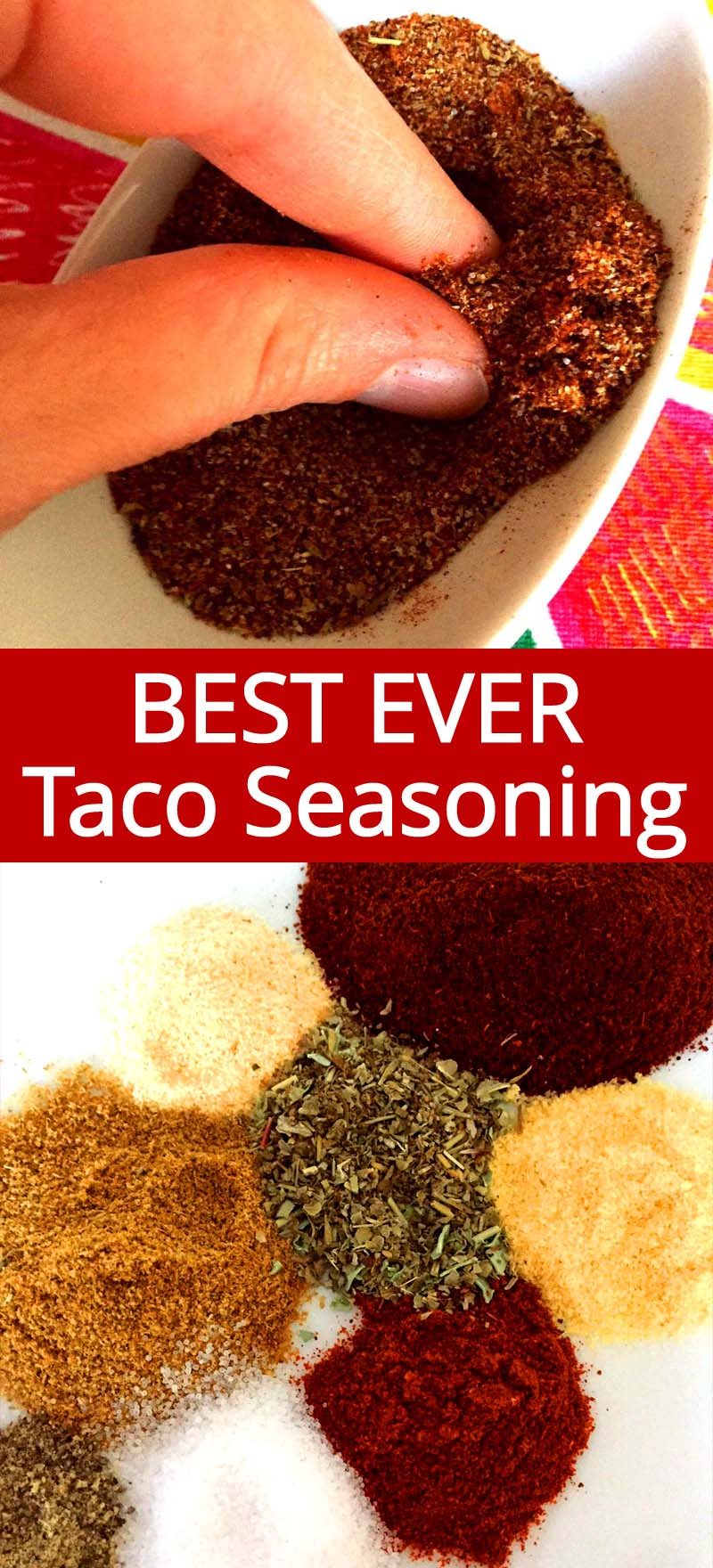 This homemade taco seasoning mix tastes so much better then store-bought! The spice flavor is so fresh, so clean and comes through perfectly! Once you try making your own taco seasoning, you'll never buy the pre-mixed one in the jar!