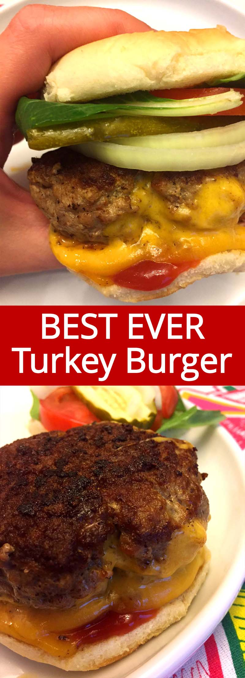 I love these turkey burgers! They are so moist and juicy!  This is the best healthy turkey burger recipe ever!