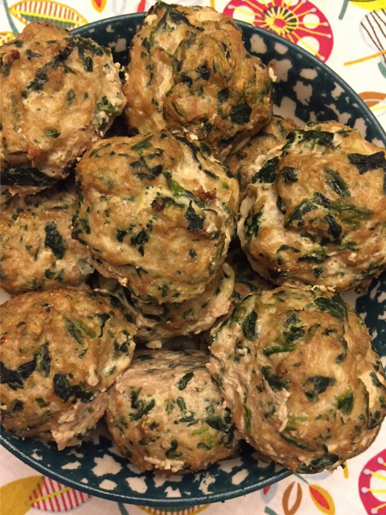 Paleo Meatballs With Spinach