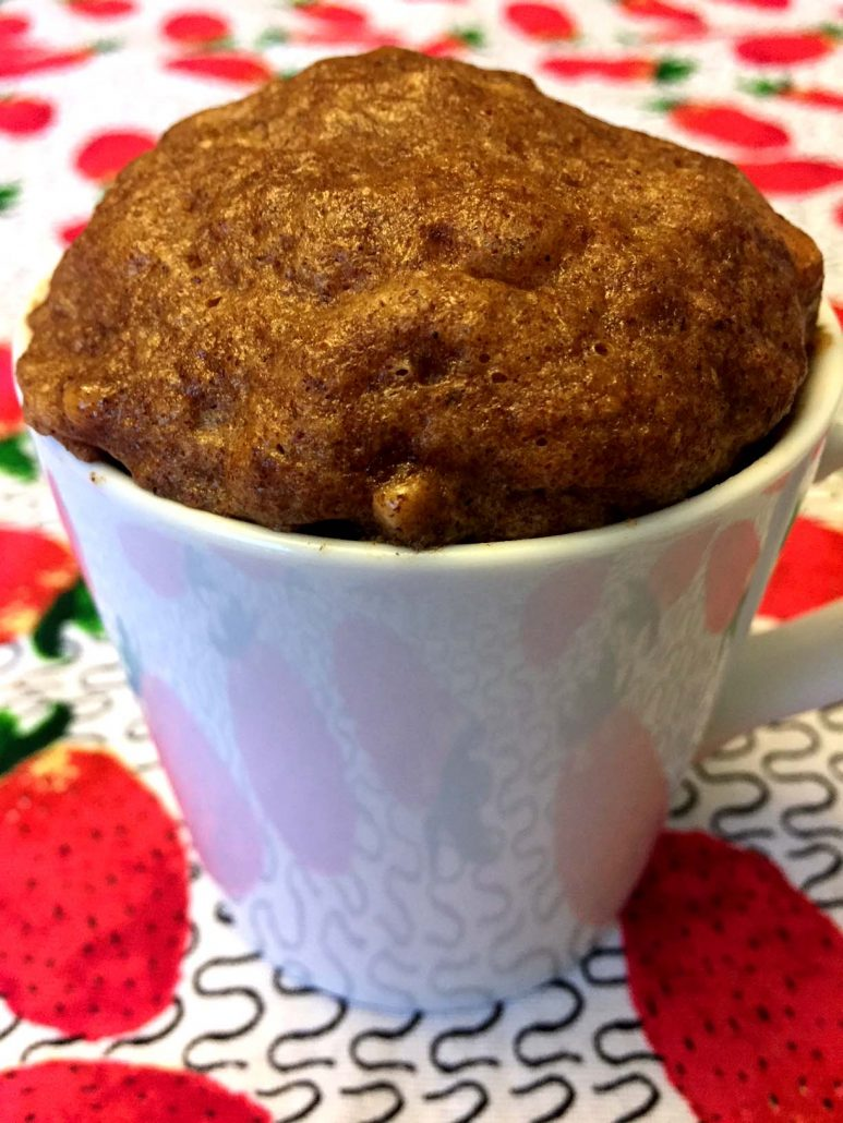 Gluten-Free Paleo Mug Cake With Cinnamon And Almond Butter