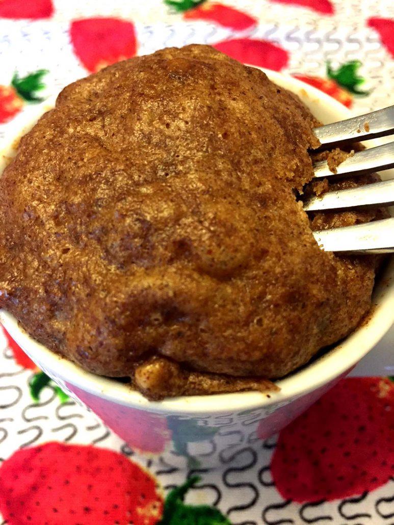 Almond Butter Cinnamon Microwave Mug Cake (Gluten-Free ...