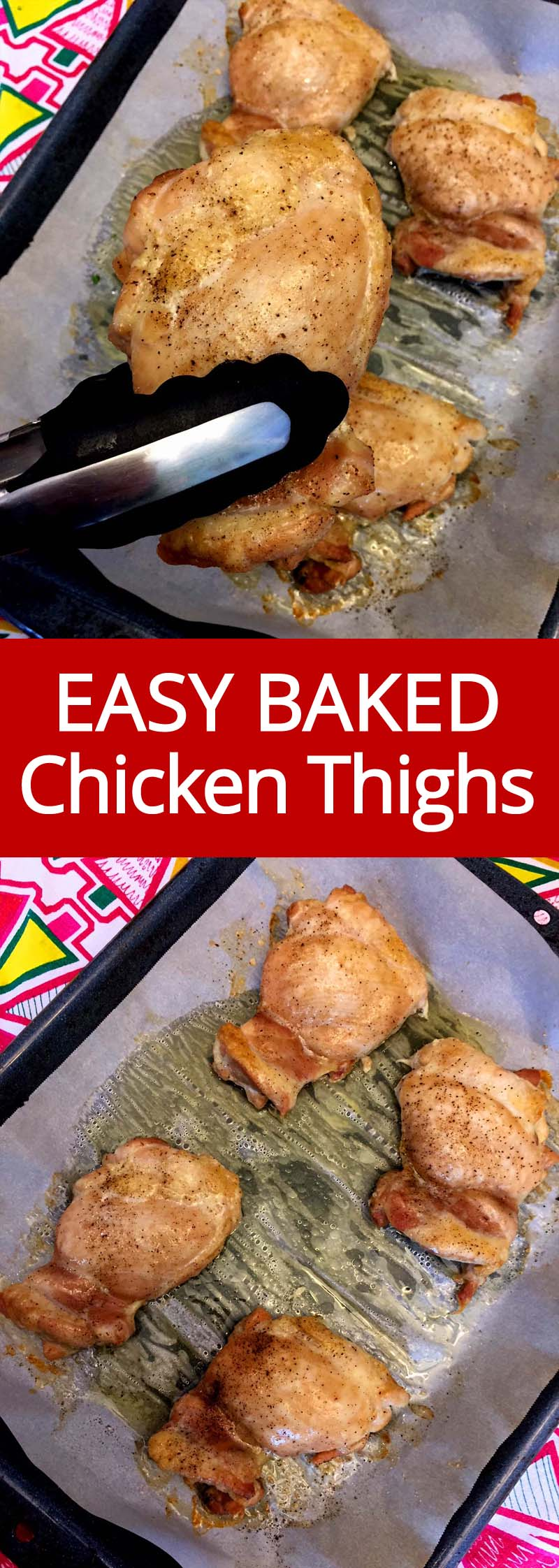 I love baked boneless skinless chicken thighs! Unlike chicken breasts, they don't dry out! They stay moist and juicy, everyone loves them! So easy to make, these chicken thighs are my go to dinner and meal prep!