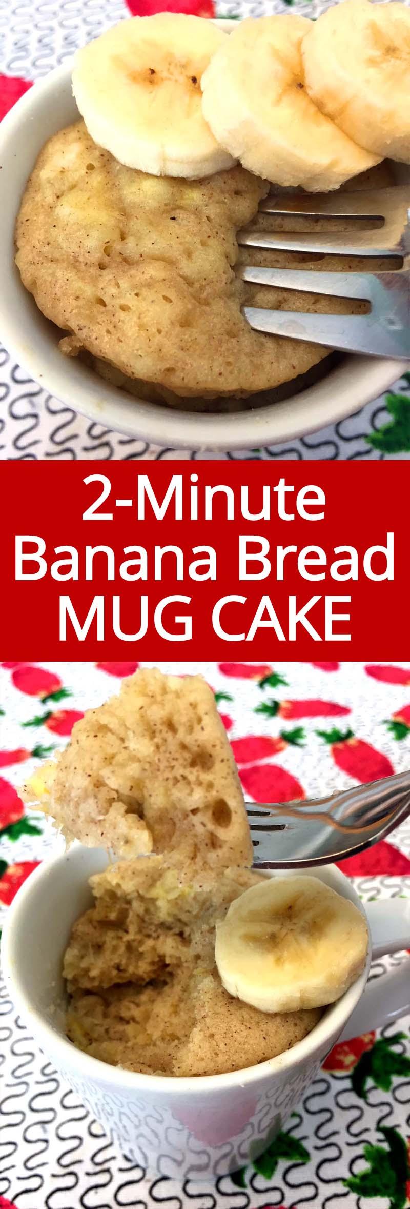 Banana Mug Cake Microwave