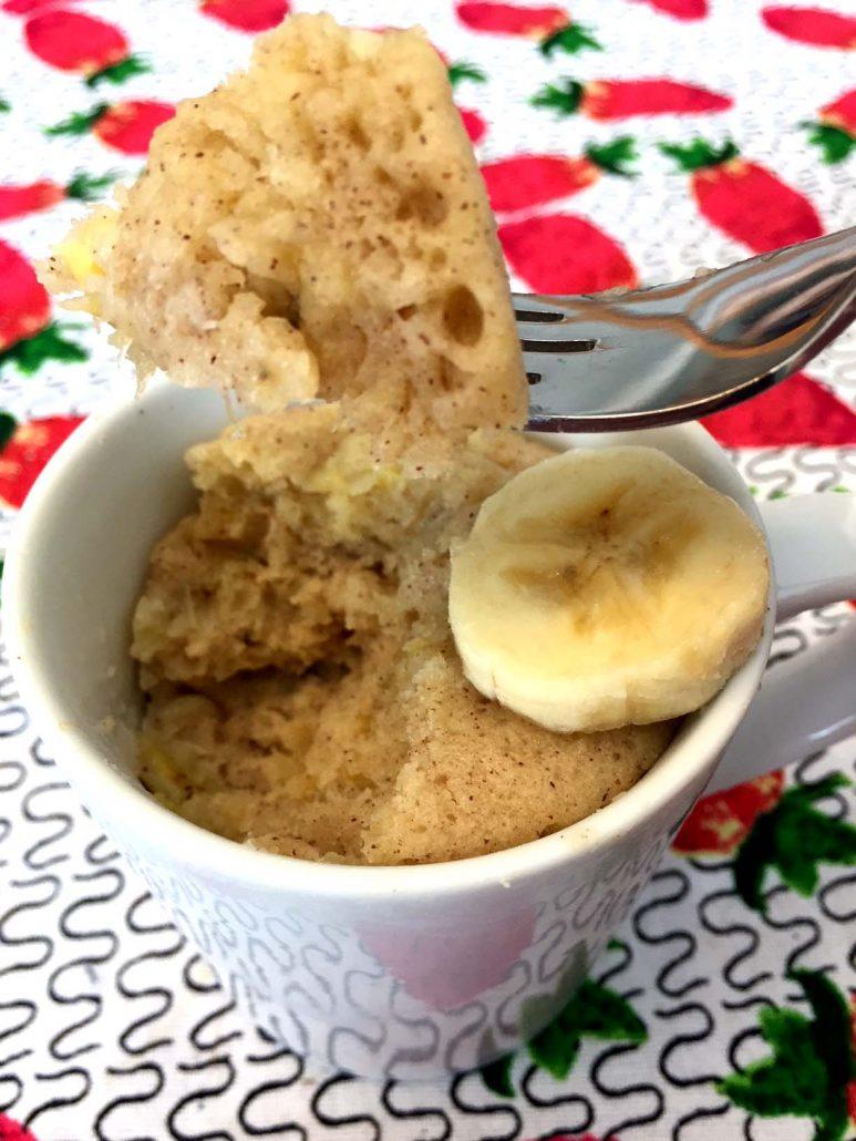 Gluten Free Banana Bread Mug Cake Microwave Recipe Melanie Cooks