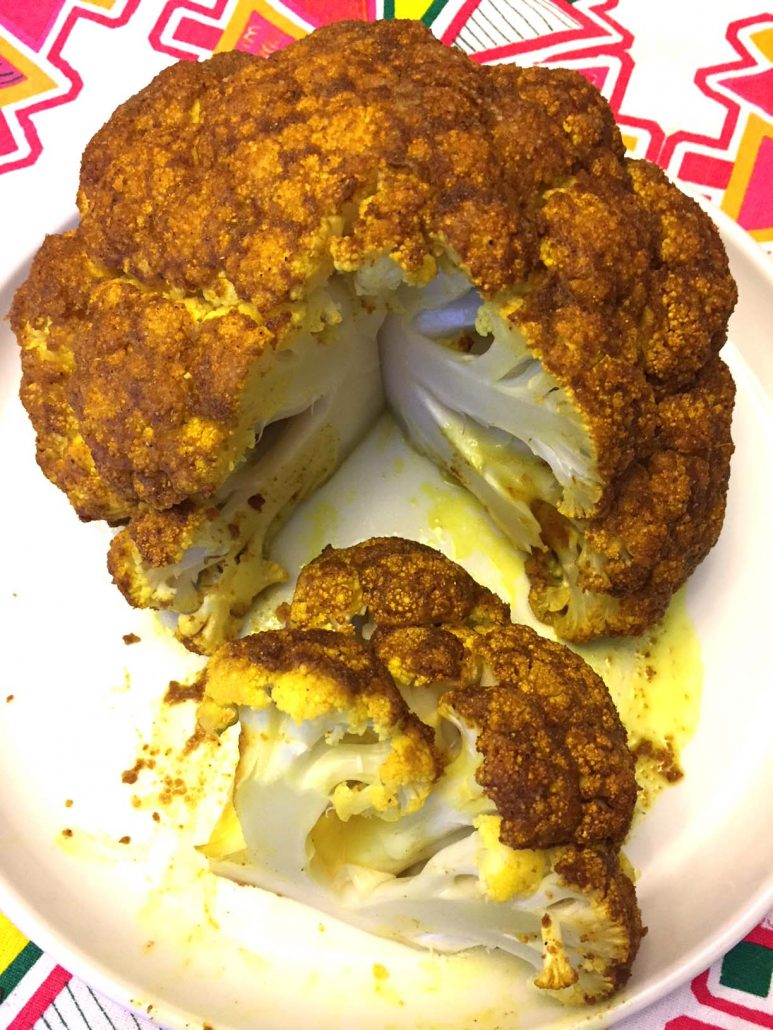 Curried Whole Roasted Cauliflower