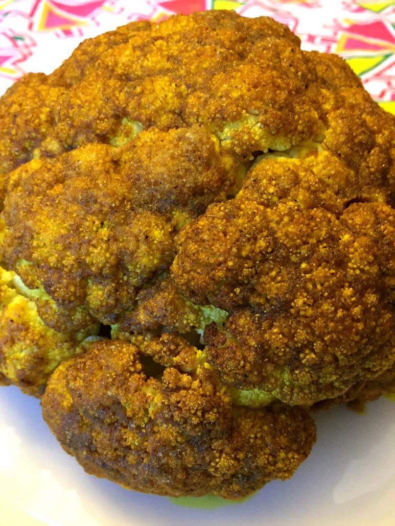Spicy Curried Whole Cauliflower