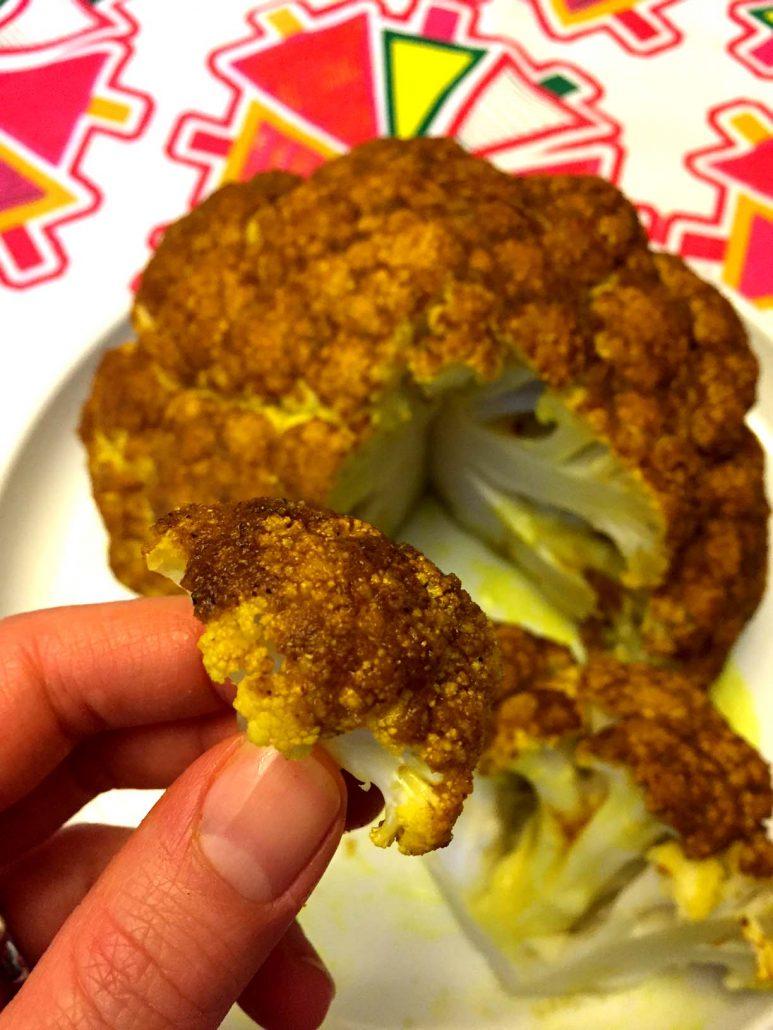 Whole Roasted Spicy Cauliflower
