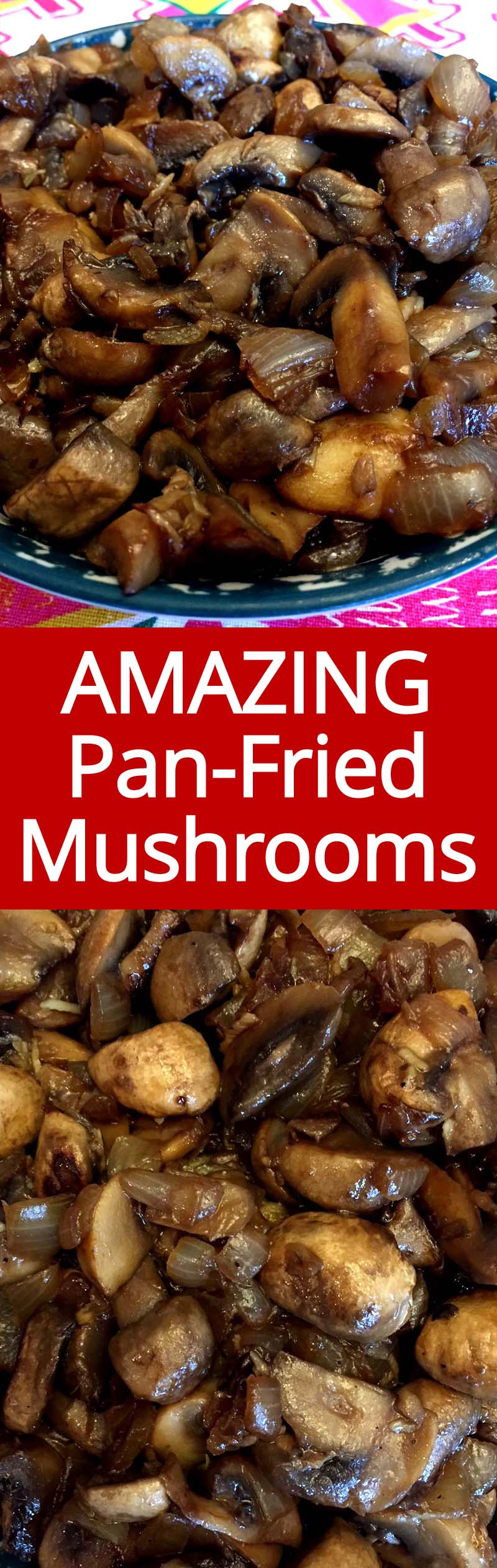 These pan fried mushrooms with onions are amazing! So easy to make, healthy and yummy! I love mushrooms!