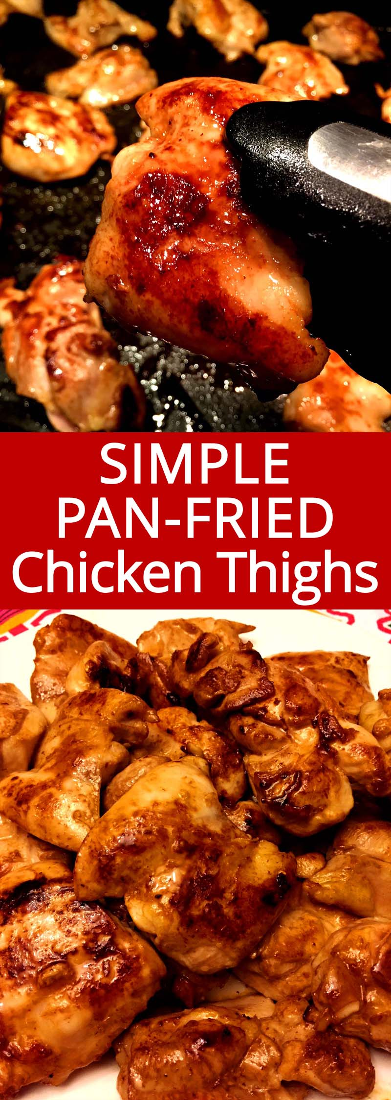 Pan Fried Boneless Skinless Chicken Thighs Easy And Simple Melanie Cooks