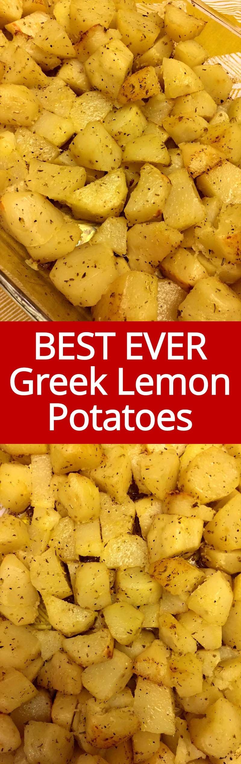 This are the best Greek lemon potatoes ever! This recipe is AUTHENTIC, these lemon potatoes taste just like the ones in a Greek restaurant!