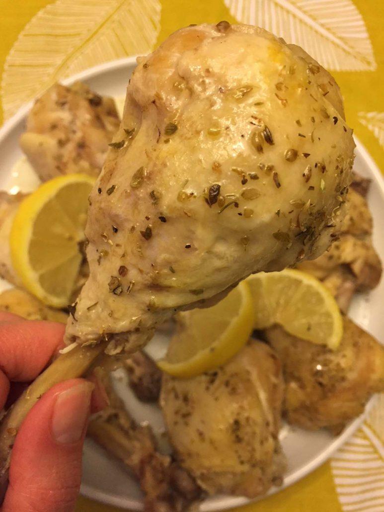 Lemon Garlic Chicken Drumsticks Instant Pot Recipe