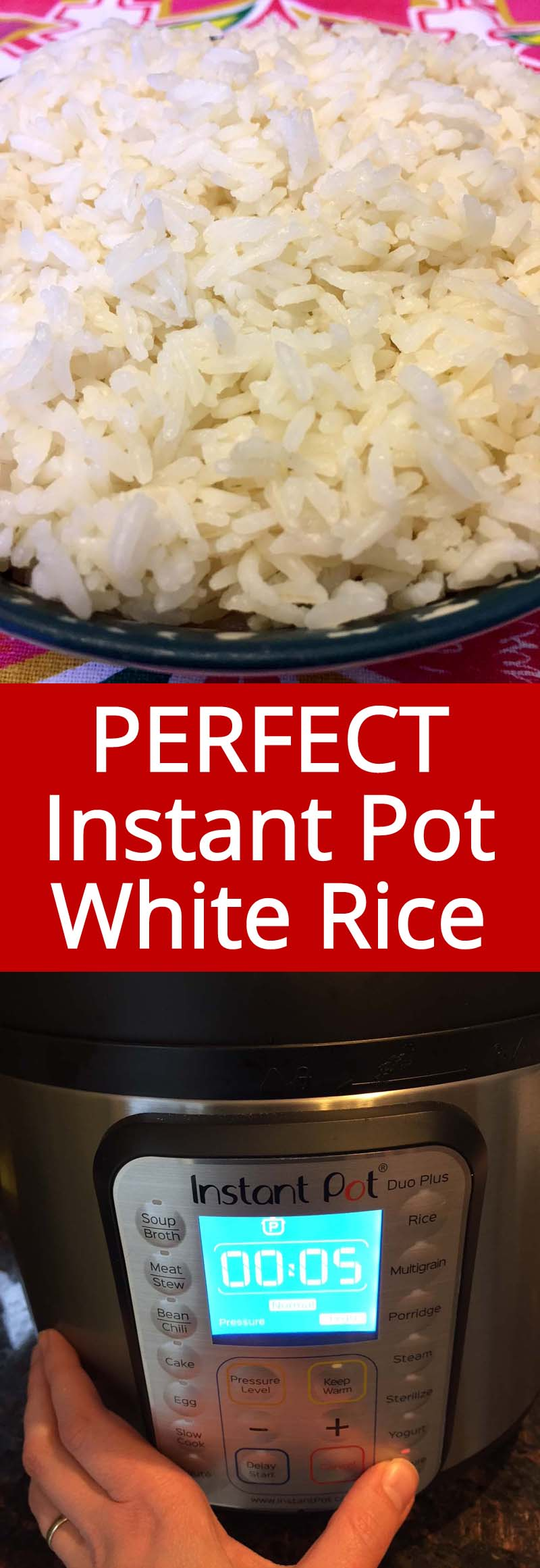 Instant Pot rice turns out perfect every time! Time to throw out my rice cooker!