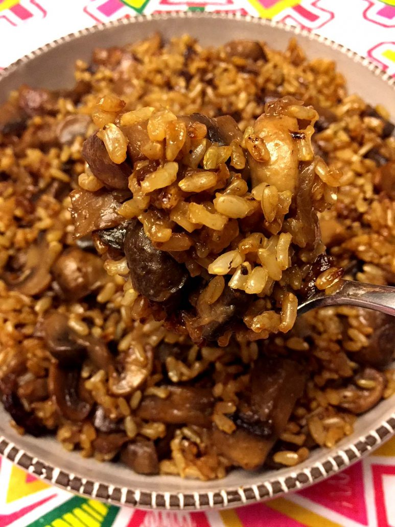 Easy Mushroom Rice Recipe