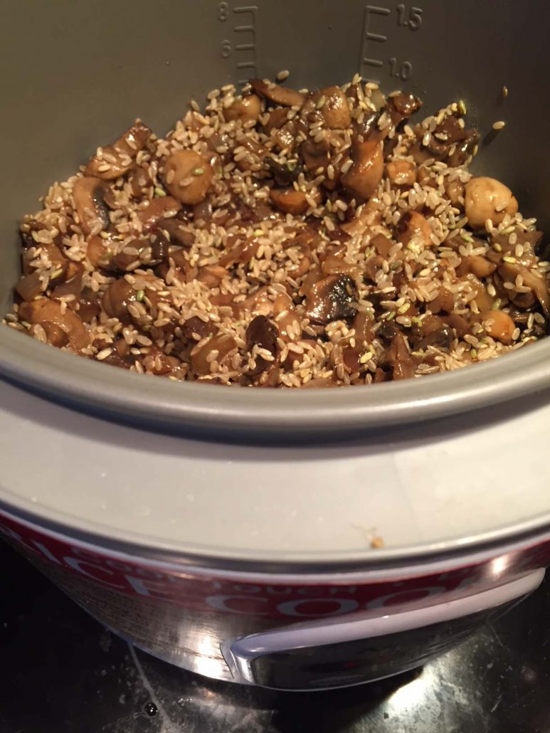 Mushroom Rice In A Rice Cooker