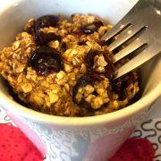 Gluten-Free Oatmeal Raisin Mug Cake Recipe