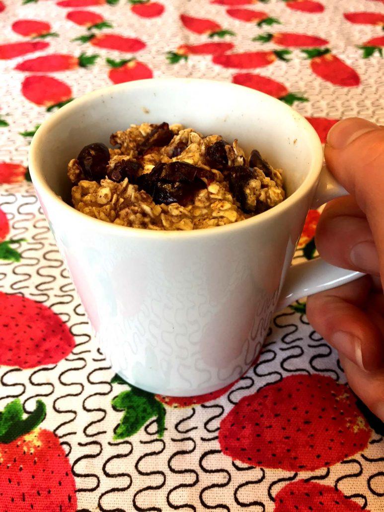 Gluten Free Oatmeal Raisin Microwave Mug Cake Recipe