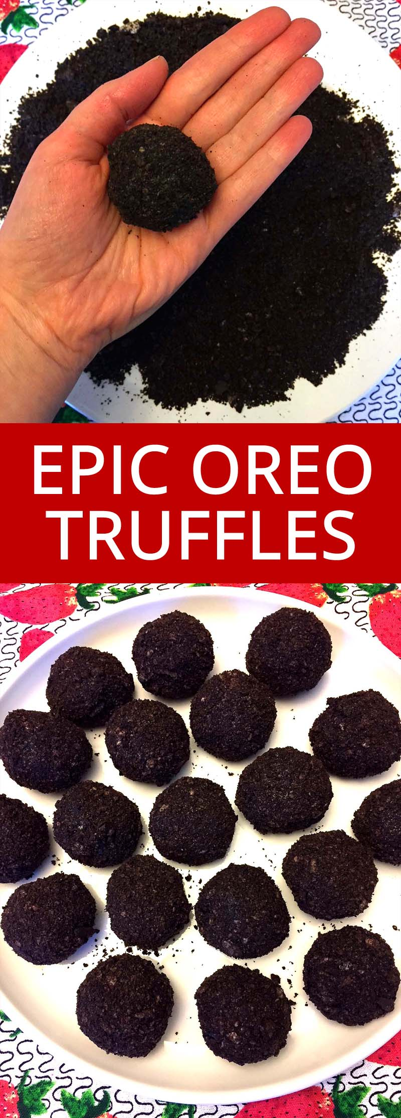 These are the only Oreo truffles that weren't a Pinterest fail!  No dipping in messy white chocolate!  This is the EASIEST and TASTIEST Oreo balls recipe ever!