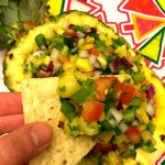 Pineapple Salsa Recipe In A Pineapple Shell Bowl