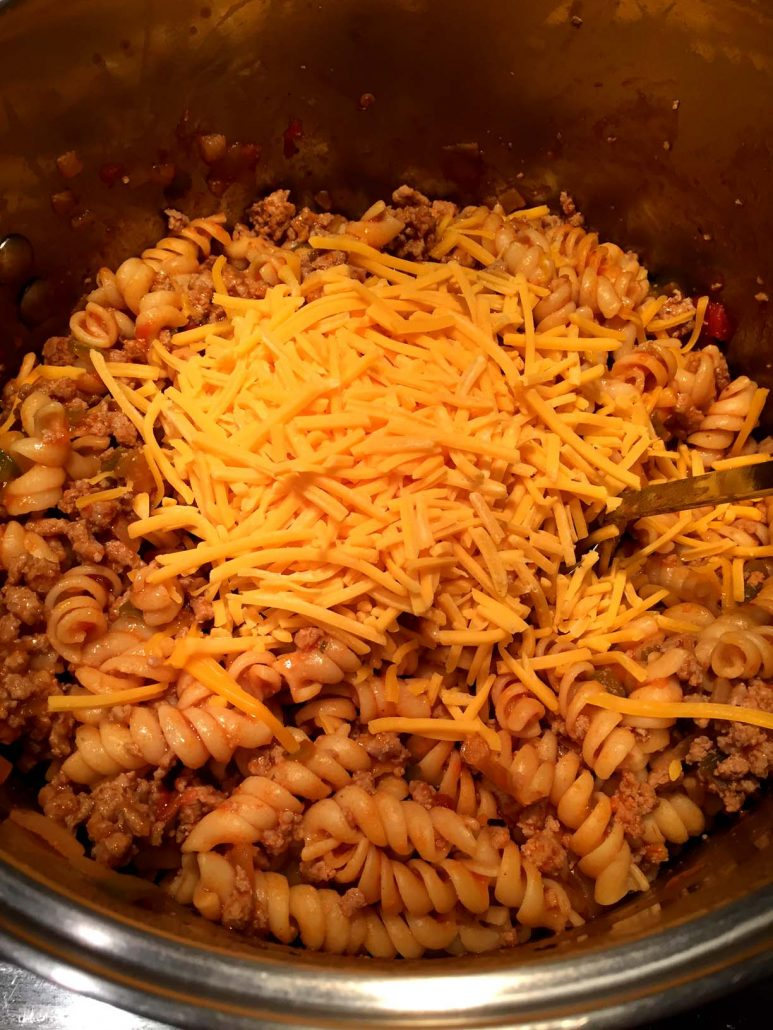 One Pot Pasta With Shredded Cheese