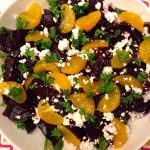 Roasted Beet Salad With Feta Cheese And Oranges
