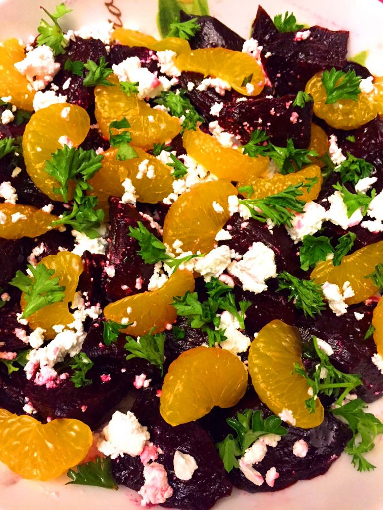 Beet Salad With Feta Cheese And Oranges