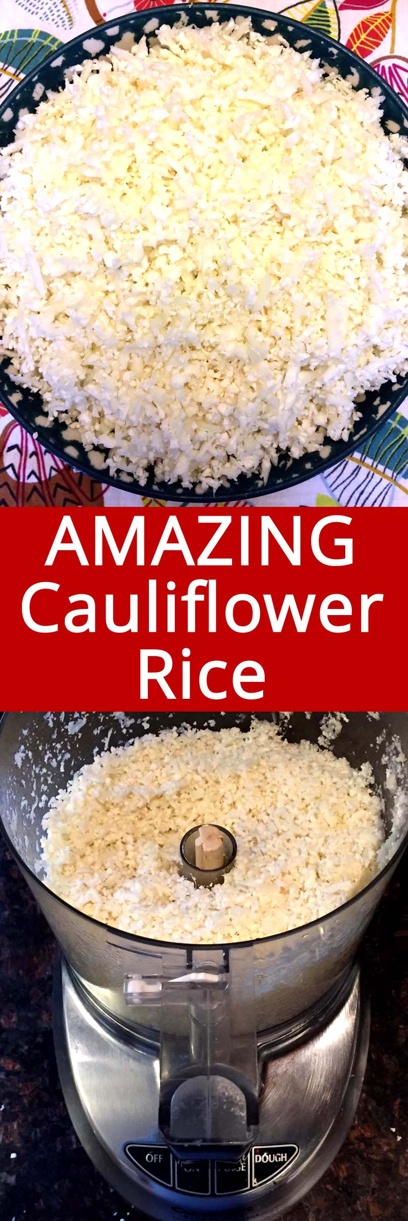 This cauliflower rice tastes amazing! I actually prefer it to real rice! This is the only cauliflower rice recipe you'll ever need!