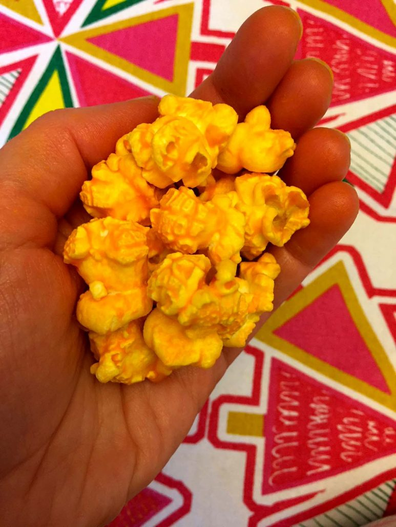 Cheese Popcorn With Cheddar Cheese Powder