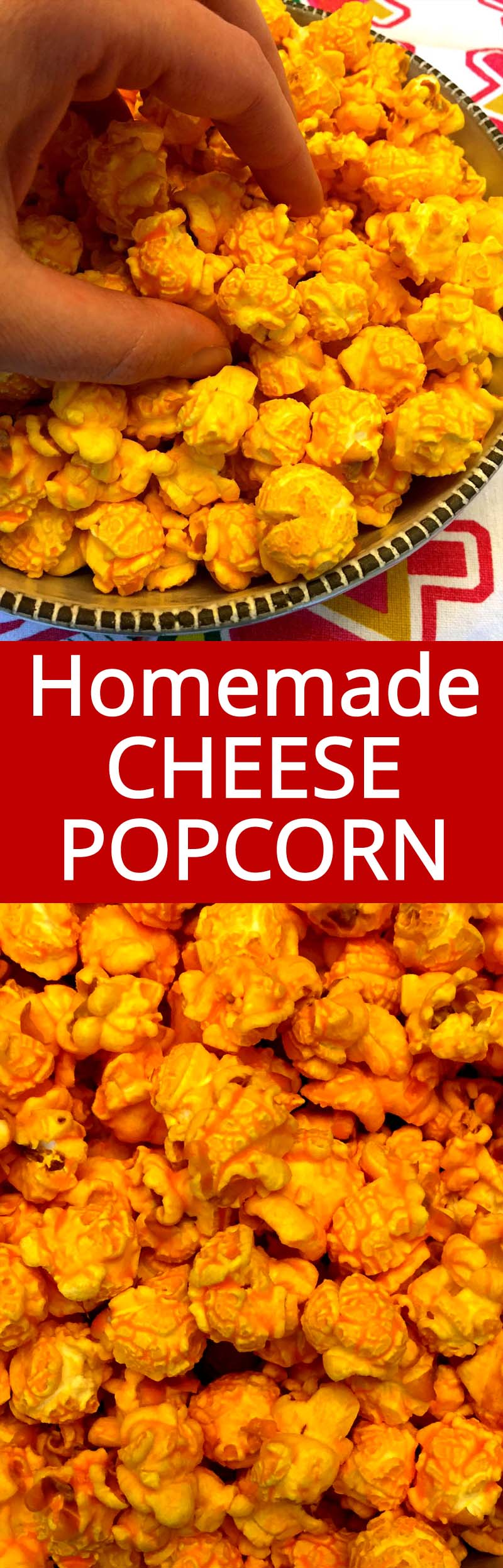 This homemade cheese corn is amazing! This is the only cheese popcorn recipe you'll ever need!