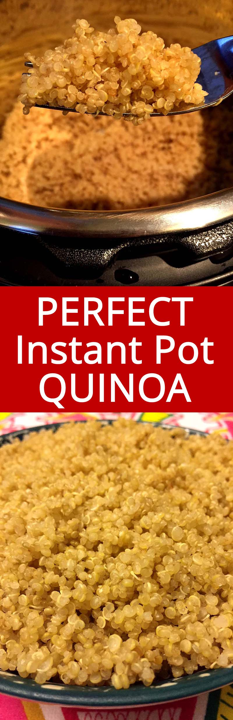 Instant Pot quinoa is so fluffy and tasty! Instant Pot cooks perfect quinoa so quickly and easily! I now always make quinoa in my Instant Pot pressure cooker!