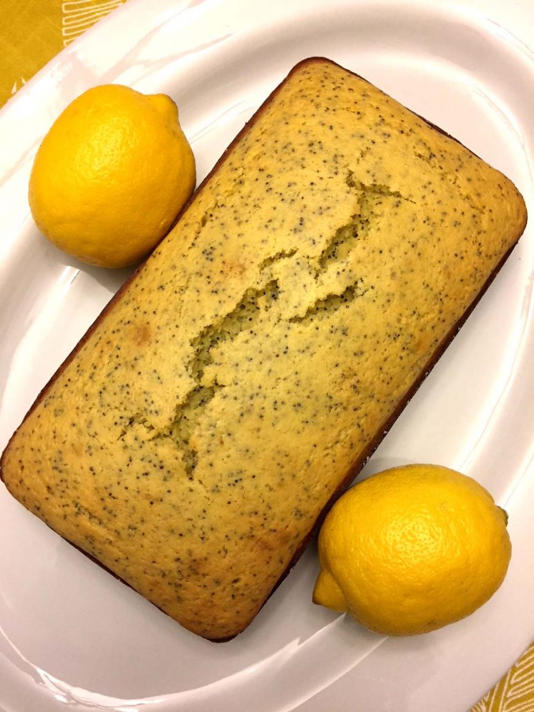 Fresh Lemon Bread With Poppy Seeds