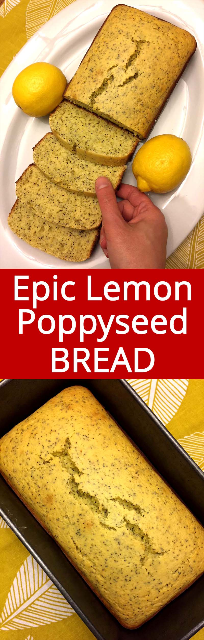I love this lemon poppyseed bread! This recipe is so easy and so delicious! This is the only lemon poppyseed recipe you'll ever need!