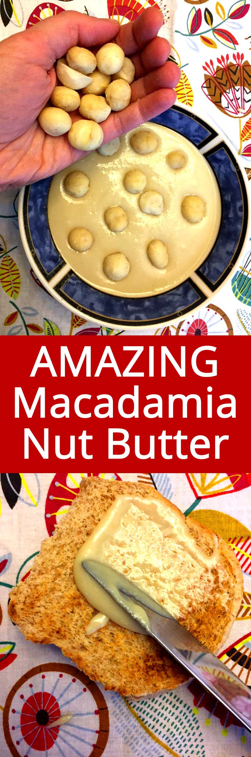 This homemade macadamia nut butter is amazing! Macadamias are my favorite nuts!