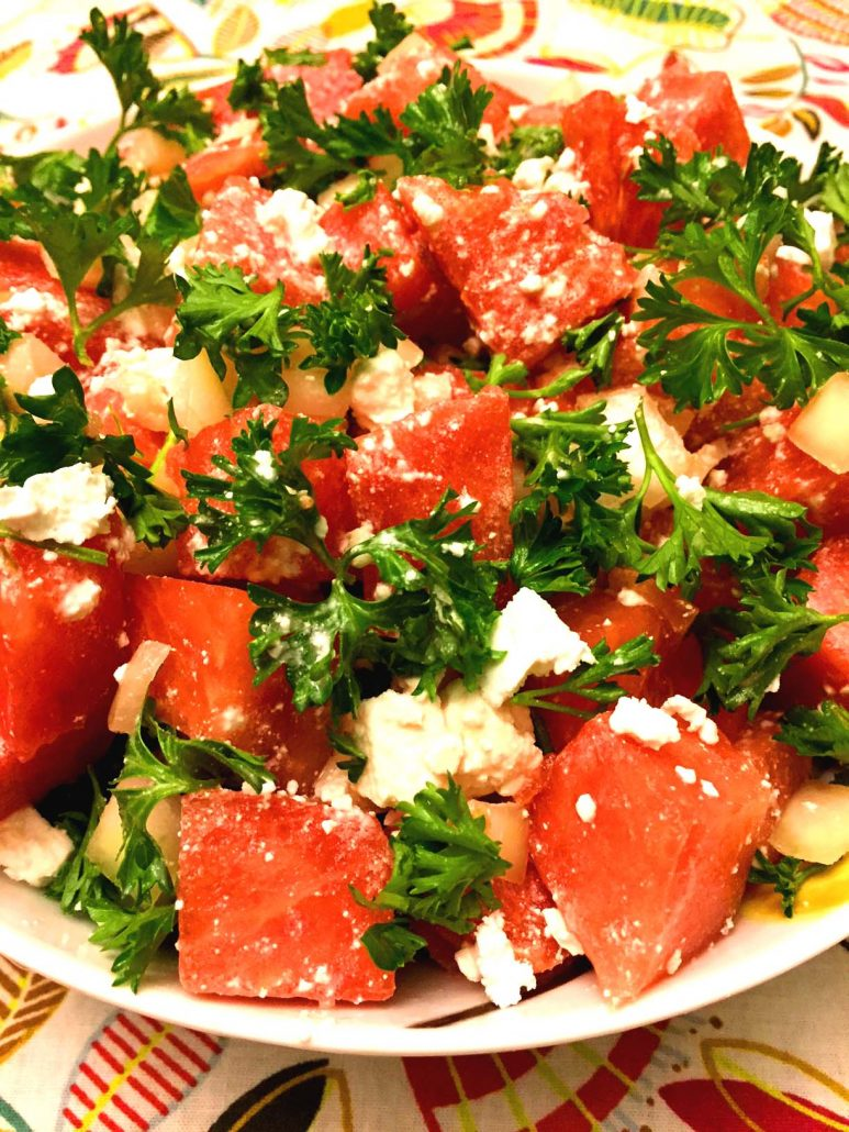 Watermelon Summer Salad With Feta Cheese