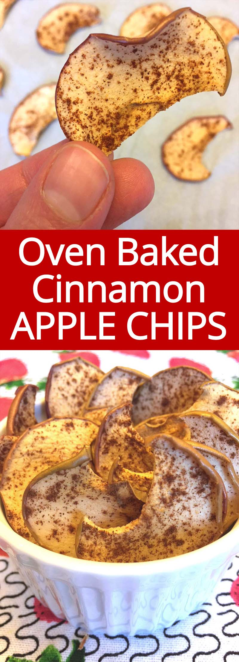 I love these homemade cinnamon apple chips! SO HEALTHY AND YUMMY! So easy to make in the oven! Perfect healthy snack!!!