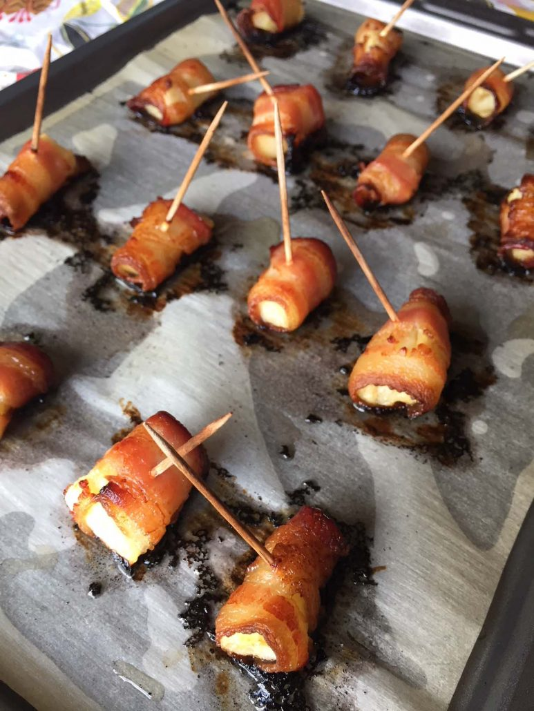 Baked Bacon Wrapped Pineapple