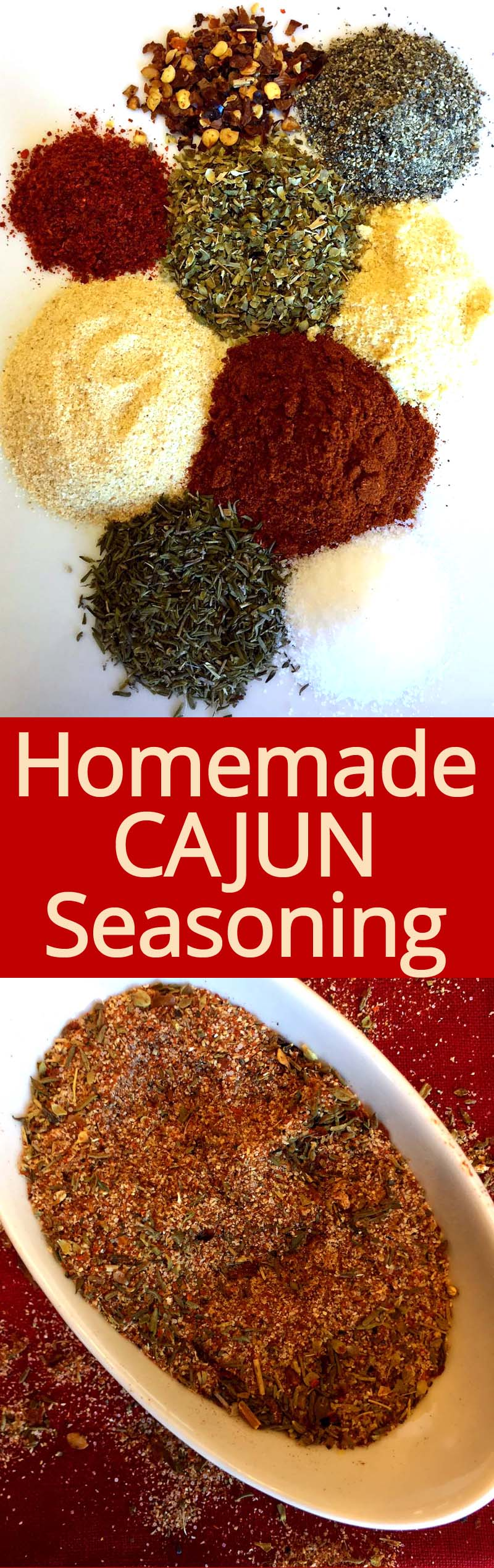 This homemade Cajun seasoning spice mix is amazing! So easy to make and so much more flavorful than store-bought! YUM YUM I love this spice!