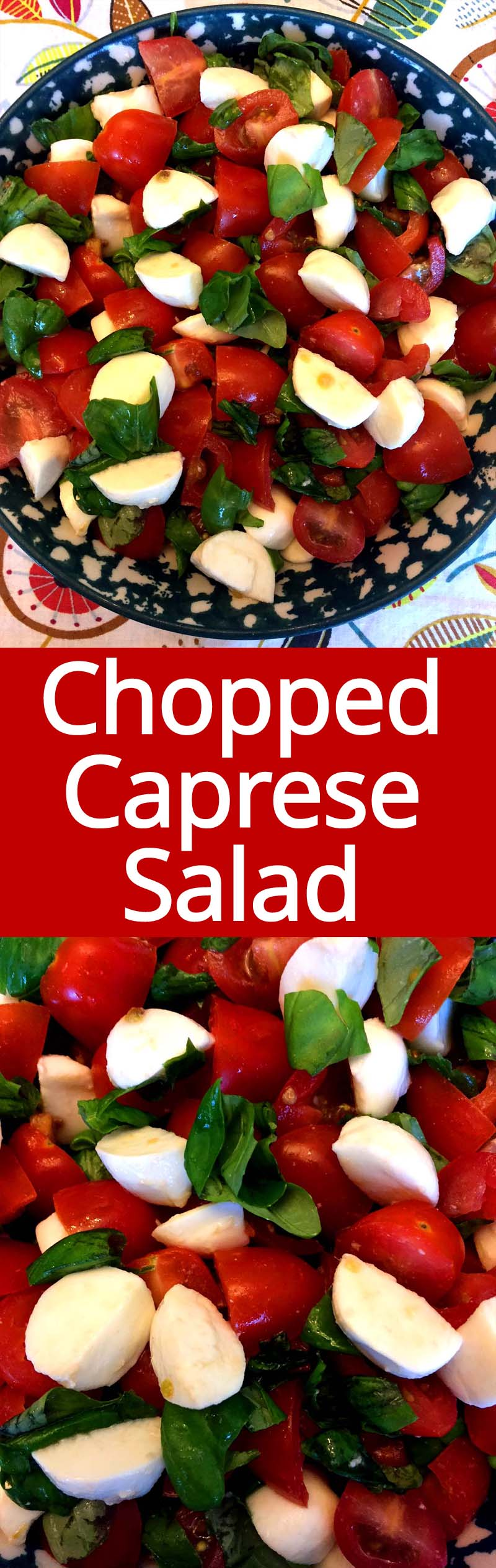 I love Caprese salad, and this chopped version takes it to the whole new level! MOUTHWATERING! Fresh tomatoes, basil and mozzarella - so yummy and refreshing!
