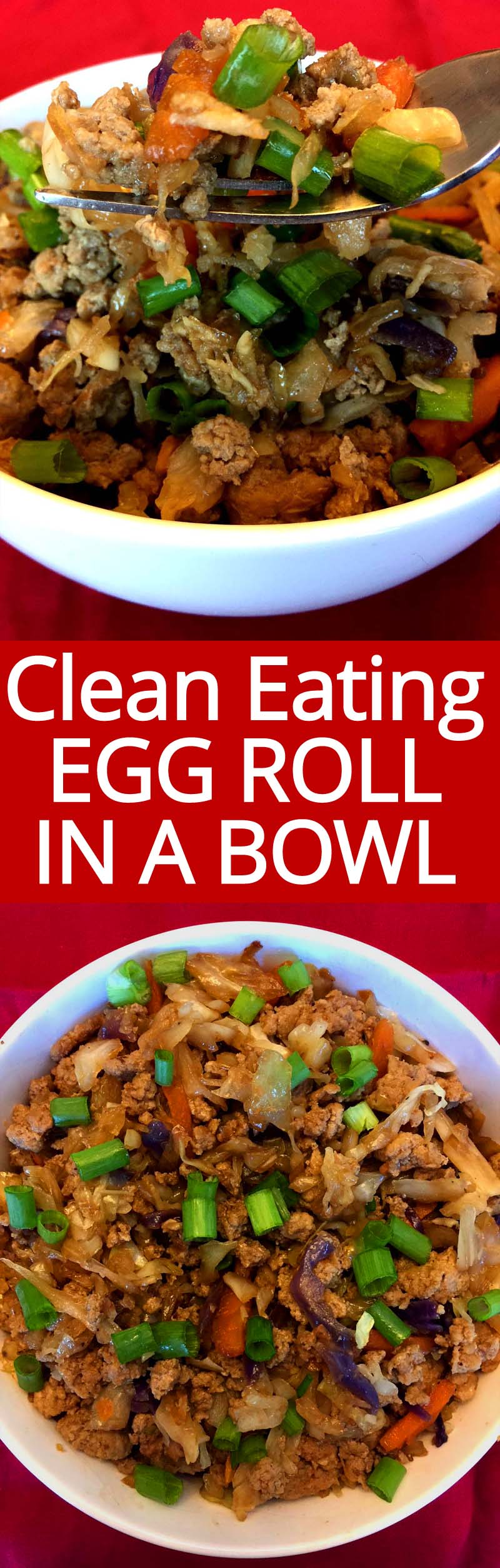 Egg Roll In A Bowl is the ultimate healthy low-carb dinner! YUM YUM YUM! So easy, I make it at least once a week!!!
