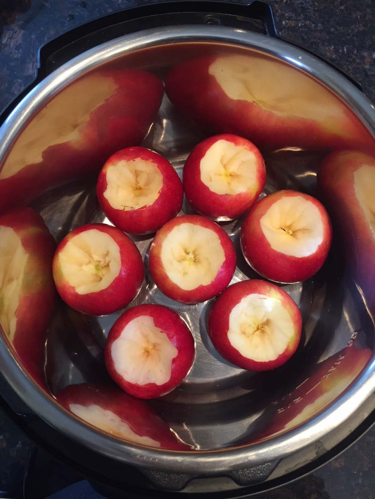 Instant Pot Cored Apples
